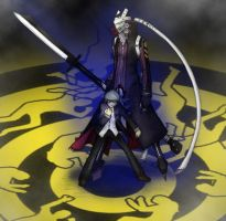 Persona 4 Izanagi and Souji by Farel13