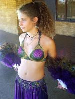 Chain mail Belly Dance outfit by spamwolf
