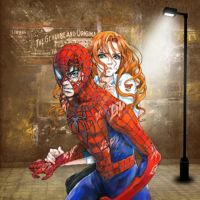 Spider-Man and Mary Jane by HeroPix