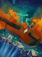 Violin Player by transe