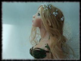 04 Spring Fairy sculpture ooak, 1 inch head by Rosen-Garden