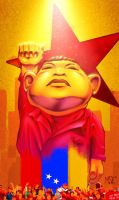Caricature of Hugo Chavez by SantoFerreira