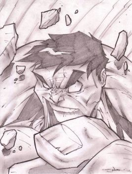 Hulk 2 Sketch Shot by StevenSanchez