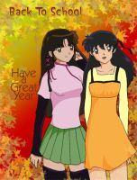 Sango n Kagome: Back to School by isa-chan