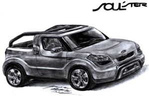 Kia SOULster concept pencil drawing by toyonda