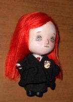 Chibi Ginny Weasley mini art doll by LilliamSlasher