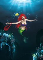 Ariel, The Little Mermaid by MonicaMarinho