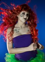 Twisted Princess Ariel Inspired Makeup by nikkipandahat