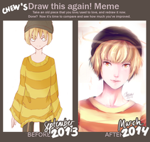 Draw This Again: September 2013 vs. March 2014 by Chewsome