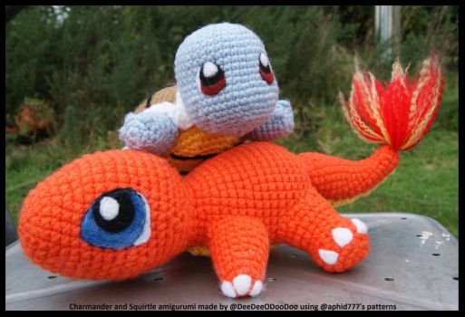 Charmander and Squirtle Buddies by ItsaBumbleDee