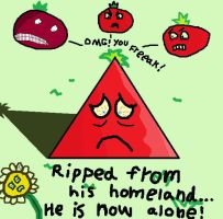 Dennis The Triangle Tomato by BANGDK