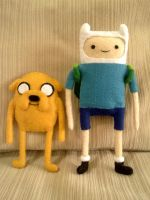 Felt: Finn and Jake by curryApple
