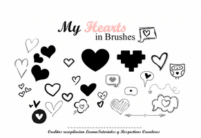 My Hearts in Brushes by LuanaTutoriales