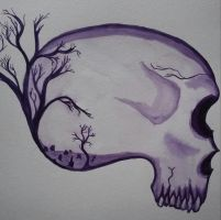 Graveyard Skull by TheRealMannequin