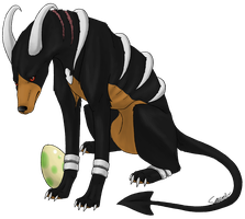 Ardere the Houndoom by Sauriv