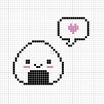 Happy Onigiri Cross Stitch Pattern by passionfyre