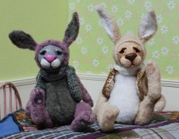 bunnies art dolls by iasio