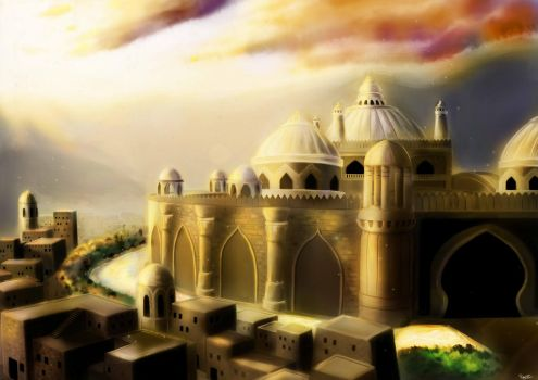 Ancient Indian Castle by RAZORI3EAM