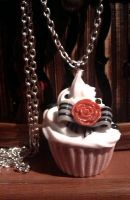 fimo muffin pendant by ShirNek0