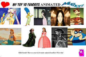 My Top Ten Favorite Animated Mothers by SmoothCriminalGirl16