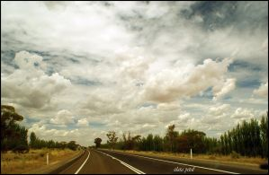 drive with clouds by Zlata-Petal