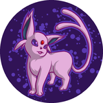 Espeon Button by Azurah