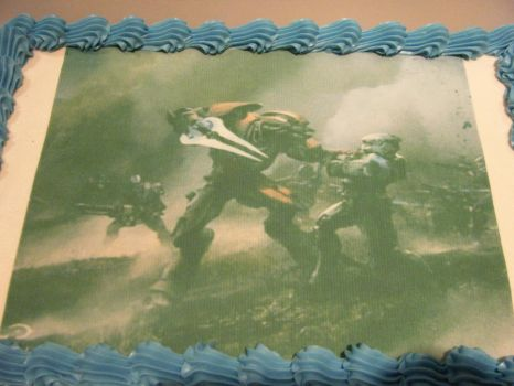Invasion Birthday Cake by AngelSnipe