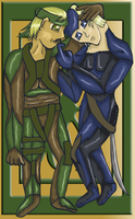 Raiden and Snake Get Cozy by whysp80