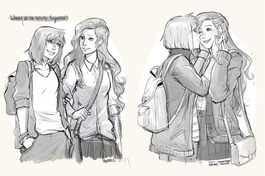Old Korrasami sketches by nymre