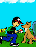 A Clueless Trainer Me and Eon by Z-ComiX