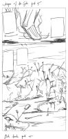 comic strip WIPs (roughs) by RedKid11