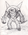 Chesnaught is raring to go! by lugiamaster