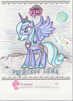 Princess Luna Coloring by mylittlebadzerg
