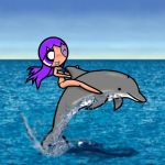 Violet - Dolphin Ride by Knalljaas