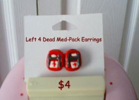 Left 4 Dead Med Pack Earrings by CynicalSniper