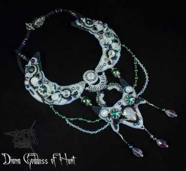 Necklace Diana Goddess of Hunt by annafjellborg