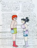 Boxing Chuckie vs Savannah - 1 by Jose-Ramiro