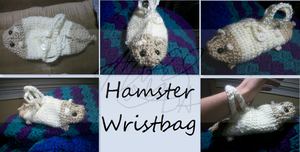 Crotchet Hamster Wristbag by Mrowgi
