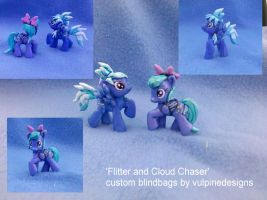 MLP FiM custom blindbags: Flitter and Cloud Chaser by vulpinedesigns