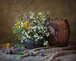 Summer is the old of cast iron pot by Daykiney