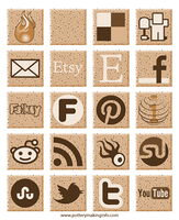 Speckled Clay Social Media Icons by artbyfuzzy