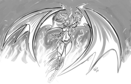 Fire Demoness - DRS Request by EryckWebbGraphics