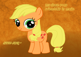 MLP - Chibi [Young] Apple Jack Desktop Wallpaper by ILoveEdwardRichtofen