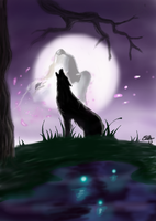 Howling wolf by SunsetDragonfly