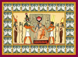 Isis Thot Horus ancient egypt gods printable by Mikewildt