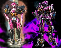 Arcee repaint comparison by Unicron9