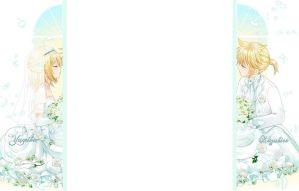 Kagamine Rin and Len Wallpaper for FFSng by Ouressi-Hime
