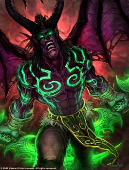 Illidan by GlennRaneArt