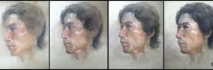 Pastel portrait - step by step by bloodyman88