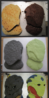 Garrus and Thane Cakes: Progress Photos by BeanieBat